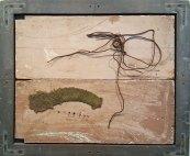 "David Kargl, Wind, 1986, mixed media, 36 x 30 x 1.5"", Gift of Chuck Thurow, Chicago IL"