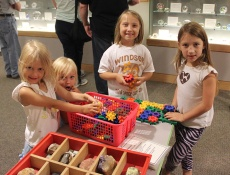 Children explore exhibits from A Place for Discovery, the Museum's former children's exhibition.