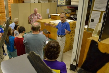 Dr. Jeff Saunders gives and introduction to the Museum's geology collection.