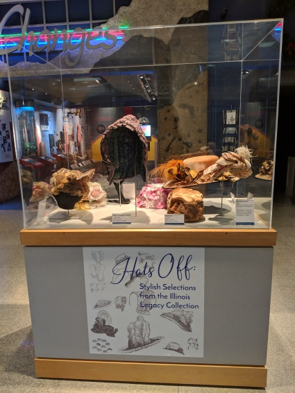 Hat's Off exhibit in the Illinois State Museum Lobby.